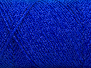 Fiber Content 50% Wool, 50% Acrylic, Brand ICE, Blue, Yarn Thickness 3 Light  DK, Light, Worsted, fnt2-56436