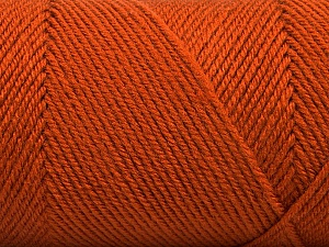 Fiber Content 50% Wool, 50% Acrylic, Brand ICE, Dark Orange, Yarn Thickness 3 Light  DK, Light, Worsted, fnt2-56437
