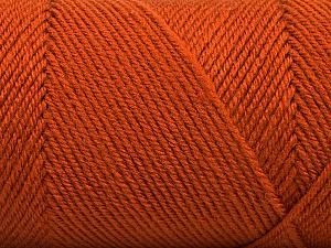 Fiber Content 50% Wool, 50% Acrylic, Brand ICE, Dark Orange, Yarn Thickness 3 Light  DK, Light, Worsted, fnt2-56437