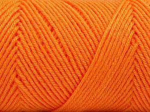 Fiber Content 50% Wool, 50% Acrylic, Orange, Brand ICE, Yarn Thickness 3 Light  DK, Light, Worsted, fnt2-56438