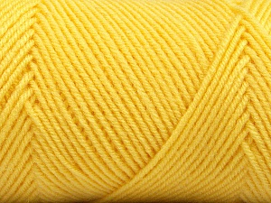 Fiber Content 50% Wool, 50% Acrylic, Yellow, Brand ICE, Yarn Thickness 3 Light  DK, Light, Worsted, fnt2-56439