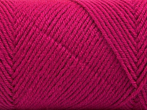 Fiber Content 50% Wool, 50% Acrylic, Brand ICE, Dark Fuchsia, Yarn Thickness 3 Light  DK, Light, Worsted, fnt2-56441