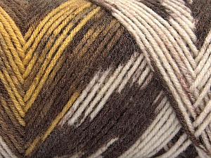 Fiber Content 50% Wool, 50% Acrylic, Yellow, Brand ICE, Cream, Brown Shades, Yarn Thickness 3 Light  DK, Light, Worsted, fnt2-56448