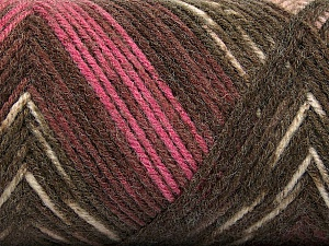 Fiber Content 50% Wool, 50% Acrylic, Pink, Maroon, Brand ICE, Brown Shades, Yarn Thickness 3 Light  DK, Light, Worsted, fnt2-56450