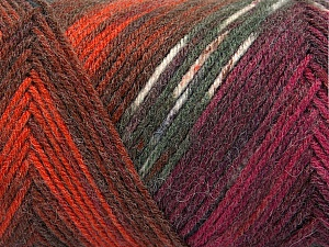 Fiber Content 50% Wool, 50% Acrylic, White, Brand ICE, Grey Shades, Copper, Burgundy, Blue, Yarn Thickness 3 Light  DK, Light, Worsted, fnt2-56455