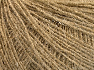 Fiber Content 50% Wool, 50% Acrylic, Light Camel, Brand ICE, Yarn Thickness 2 Fine  Sport, Baby, fnt2-56488