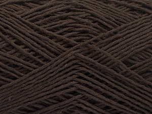 Fiber Content 100% Cotton, Brand ICE, Dark Brown, Yarn Thickness 2 Fine  Sport, Baby, fnt2-56711