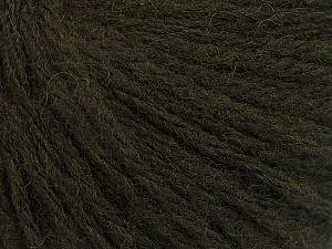 Fiber Content 50% Acrylic, 50% Wool, Brand ICE, Dark Green, Yarn Thickness 4 Medium  Worsted, Afghan, Aran, fnt2-56739