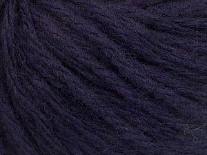 Fiber Content 50% Wool, 50% Acrylic, Brand ICE, Dark Purple, Yarn Thickness 4 Medium  Worsted, Afghan, Aran, fnt2-56749