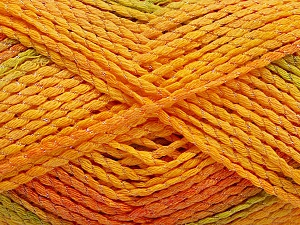 Fiber Content 44% Acrylic, 38% Cotton, 18% Polyamide, Orange, Brand ICE, Green, Gold, fnt2-56760