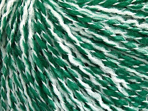 Fiber Content 60% Acrylic, 20% Polyamide, 20% Wool, White, Brand ICE, Green, Yarn Thickness 3 Light  DK, Light, Worsted, fnt2-56772