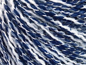 Fiber Content 60% Acrylic, 20% Polyamide, 20% Wool, White, Brand ICE, Blue, Yarn Thickness 3 Light  DK, Light, Worsted, fnt2-56774
