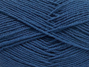 Fiber Content 70% Acrylic, 30% Wool, Brand ICE, Blue, Yarn Thickness 4 Medium  Worsted, Afghan, Aran, fnt2-56921