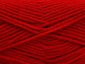Worsted  Fiber Content 100% Acrylic, Red, Brand ICE, Yarn Thickness 4 Medium  Worsted, Afghan, Aran, fnt2-56930