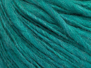 Fiber Content 55% Acrylic, 45% Wool, Brand ICE, Emerald Green, Yarn Thickness 4 Medium  Worsted, Afghan, Aran, fnt2-57000