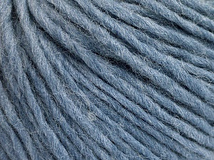 Fiber Content 50% Acrylic, 50% Wool, Light Blue Melange, Brand ICE, Yarn Thickness 4 Medium  Worsted, Afghan, Aran, fnt2-57011