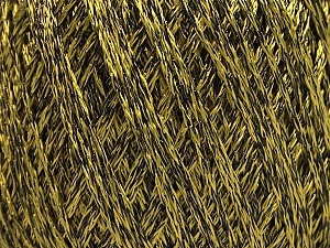 Fiber Content 85% Viscose, 15% Metallic Lurex, Olive Green, Brand Ice Yarns, Black, Yarn Thickness 3 Light DK, Light, Worsted, fnt2-57038