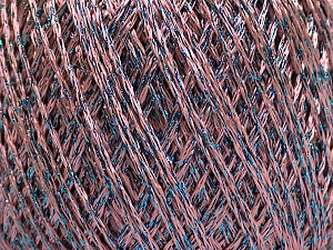Fiber Content 85% Viscose, 15% Metallic Lurex, Pink, Brand ICE, Blue, Yarn Thickness 3 Light  DK, Light, Worsted, fnt2-57045