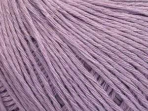 Fiber Content 100% Cotton, Light Lilac, Brand ICE, Yarn Thickness 1 SuperFine  Sock, Fingering, Baby, fnt2-57156