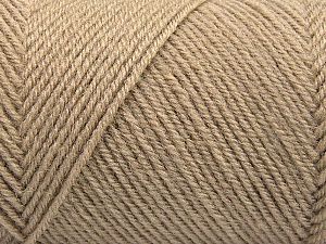 Fiber Content 50% Wool, 50% Acrylic, Brand ICE, Cafe Latte, Yarn Thickness 3 Light  DK, Light, Worsted, fnt2-57173