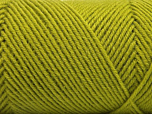 Fiber Content 50% Wool, 50% Acrylic, Brand ICE, Green, Yarn Thickness 3 Light  DK, Light, Worsted, fnt2-57175