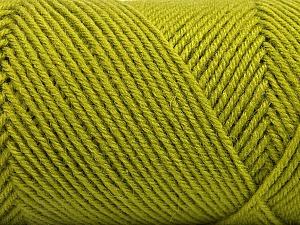 Fiber Content 50% Wool, 50% Acrylic, Brand ICE, Green, Yarn Thickness 3 Light  DK, Light, Worsted, fnt2-57175