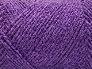 Fiber Content 50% Wool, 50% Acrylic, Lavender, Brand ICE, Yarn Thickness 3 Light  DK, Light, Worsted, fnt2-57178