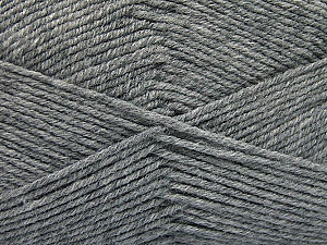 Fiber Content 80% Acrylic, 20% Polyamide, Brand ICE, Grey, Yarn Thickness 3 Light  DK, Light, Worsted, fnt2-57372