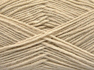 Fiber Content 80% Acrylic, 20% Polyamide, Brand ICE, Beige, Yarn Thickness 3 Light  DK, Light, Worsted, fnt2-57374
