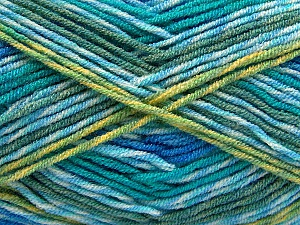 Fiber Content 100% Acrylic, Brand ICE, Green Shades, Blue Shades, Yarn Thickness 3 Light  DK, Light, Worsted, fnt2-57386