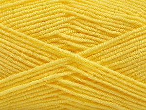 Fiber Content 50% Acrylic, 50% Bamboo, Yellow, Brand Ice Yarns, Yarn Thickness 2 Fine Sport, Baby, fnt2-57393