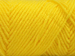 Items made with this yarn are machine washable & dryable. Fiber Content 100% Acrylic, Yellow, Brand ICE, Yarn Thickness 4 Medium  Worsted, Afghan, Aran, fnt2-57429