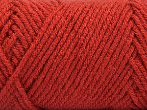 Items made with this yarn are machine washable & dryable. Fiber Content 100% Acrylic, Terra Cotta, Brand ICE, Yarn Thickness 4 Medium  Worsted, Afghan, Aran, fnt2-57437