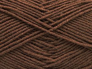 Fiber Content 70% Acrylic, 30% Wool, Brand ICE, Dark Brown, Yarn Thickness 4 Medium  Worsted, Afghan, Aran, fnt2-57579