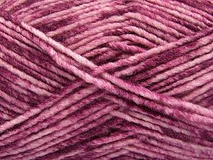 Fiber Content 70% Acrylic, 30% Wool, Pink Shades, Maroon, Brand ICE, Yarn Thickness 4 Medium  Worsted, Afghan, Aran, fnt2-57645