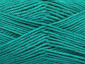 Fiber Content 65% Merino Wool, 35% Silk, Brand ICE, Emerald Green, Yarn Thickness 3 Light  DK, Light, Worsted, fnt2-57672