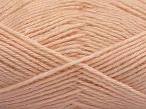 Fiber Content 65% Merino Wool, 35% Silk, Light Salmon, Brand ICE, Yarn Thickness 3 Light  DK, Light, Worsted, fnt2-57677