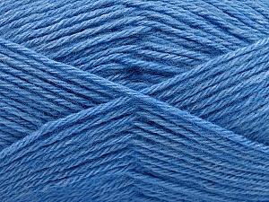 Fiber Content 65% Merino Wool, 35% Silk, Brand ICE, Blue, Yarn Thickness 3 Light  DK, Light, Worsted, fnt2-57680