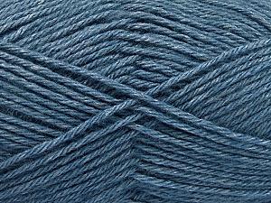 Fiber Content 65% Merino Wool, 35% Silk, Jeans Blue, Brand ICE, Yarn Thickness 3 Light  DK, Light, Worsted, fnt2-57681