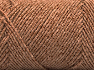 Fiber Content 50% Wool, 50% Acrylic, Brand ICE, Camel, Yarn Thickness 3 Light  DK, Light, Worsted, fnt2-57729