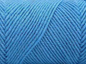 Fiber Content 50% Wool, 50% Acrylic, Light Blue, Brand ICE, Yarn Thickness 3 Light  DK, Light, Worsted, fnt2-57731