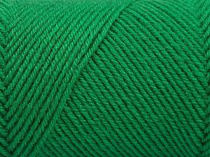 Fiber Content 50% Wool, 50% Acrylic, Brand ICE, Green, Yarn Thickness 3 Light  DK, Light, Worsted, fnt2-57733