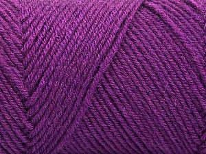 Fiber Content 50% Wool, 50% Acrylic, Purple, Brand ICE, Yarn Thickness 3 Light  DK, Light, Worsted, fnt2-57734
