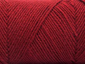 Fiber Content 50% Wool, 50% Acrylic, Brand ICE, Burgundy, Yarn Thickness 3 Light  DK, Light, Worsted, fnt2-57735