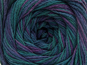 Fiber Content 100% Acrylic, Turquoise Shades, Purple Shades, Brand ICE, Yarn Thickness 3 Light  DK, Light, Worsted, fnt2-57845
