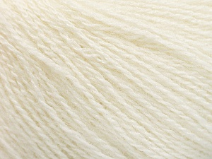 Fiber Content 65% Merino Wool, 35% Silk, Brand ICE, Ecru, Yarn Thickness 1 SuperFine  Sock, Fingering, Baby, fnt2-57855