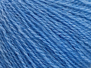 Fiber Content 65% Merino Wool, 35% Silk, Brand ICE, Blue, Yarn Thickness 1 SuperFine  Sock, Fingering, Baby, fnt2-57861