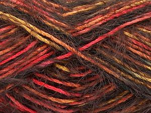 Fiber Content 55% Acrylic, 45% Polyamide, Salmon, Orange, Brand ICE, Gold, Brown, Yarn Thickness 4 Medium  Worsted, Afghan, Aran, fnt2-57884