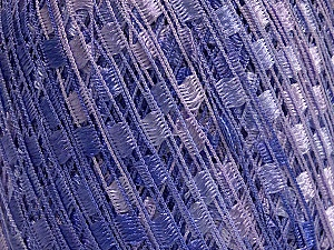 Trellis  Fiber Content 100% Polyester, Lilac Shades, Brand ICE, Yarn Thickness 5 Bulky  Chunky, Craft, Rug, fnt2-58007