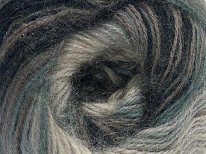 Fiber Content 75% Acrylic, 25% Angora, Brand ICE, Grey Shades, Yarn Thickness 2 Fine  Sport, Baby, fnt2-58015